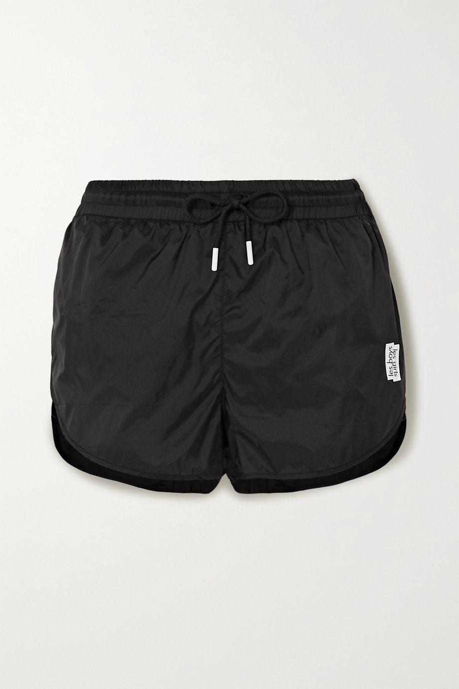 Les Girls Les Boys Printed shell shorts