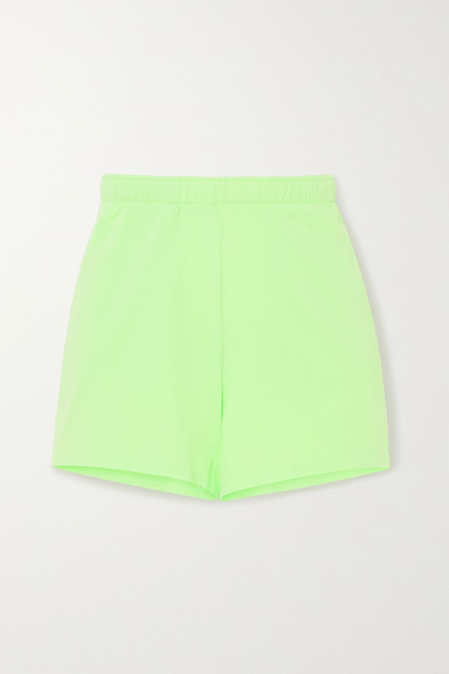 Les Girls Les Boys Embroidered cotton-jersey shorts