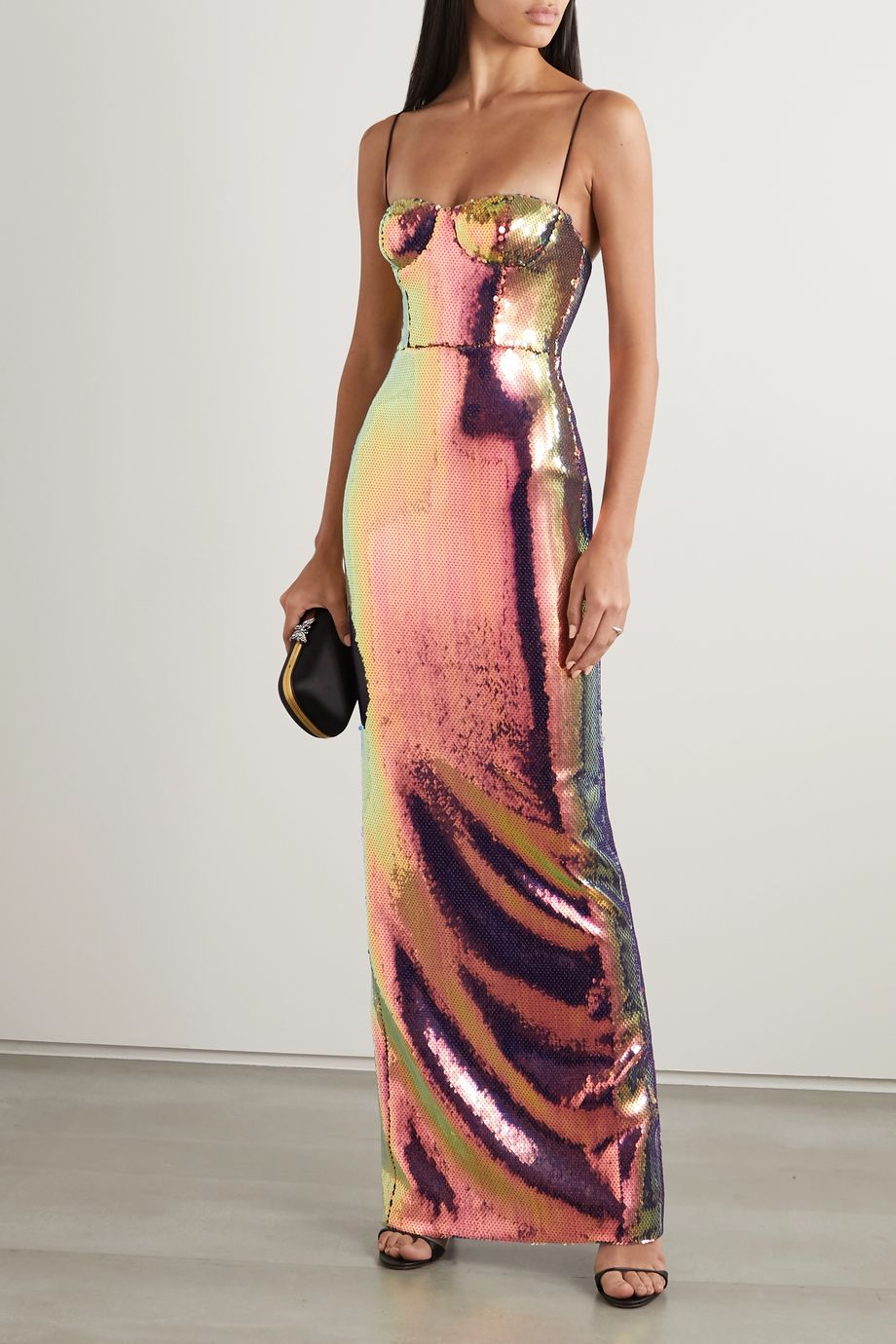 Alex Perry Ford sequined voile gown