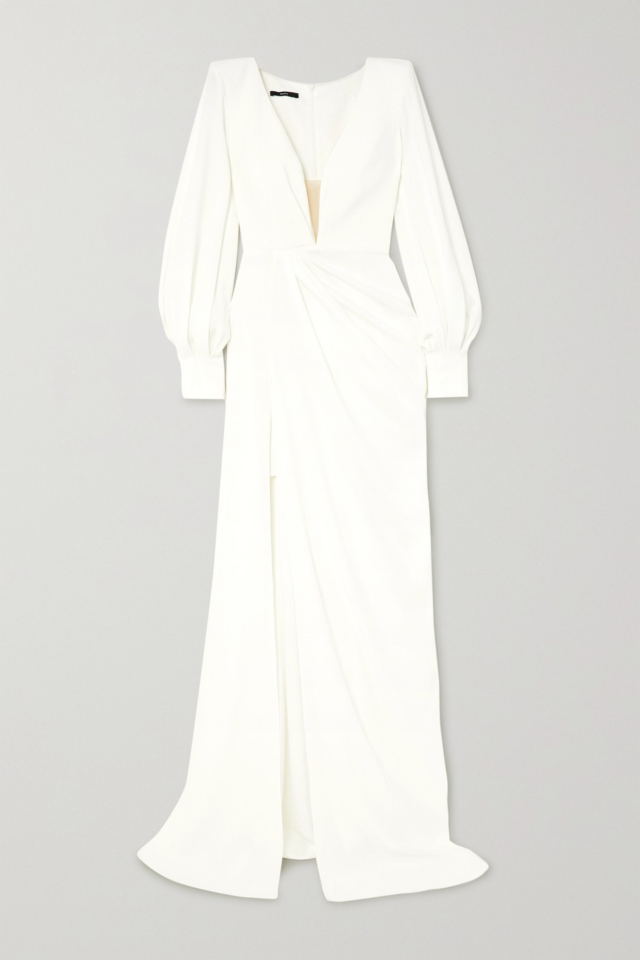 Alex Perry Clark draped crepe gown