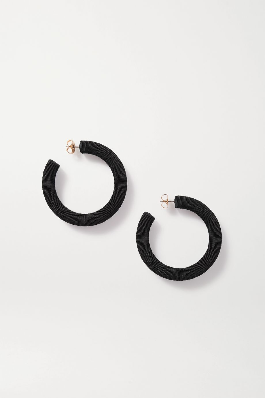 Rebecca de Ravenel Cord hoop earrings