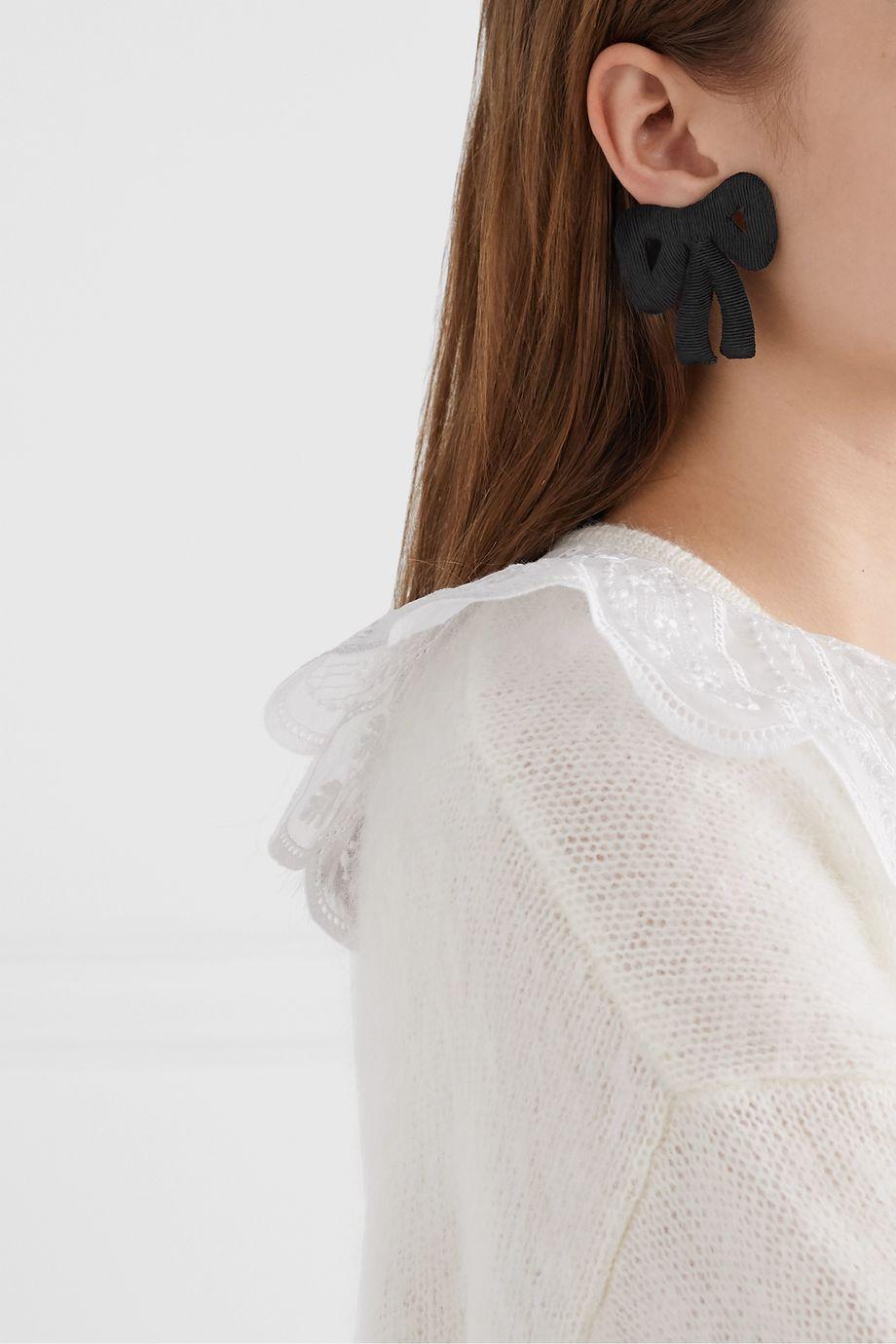 Rebecca de Ravenel Tie Me Up cord clip earrings