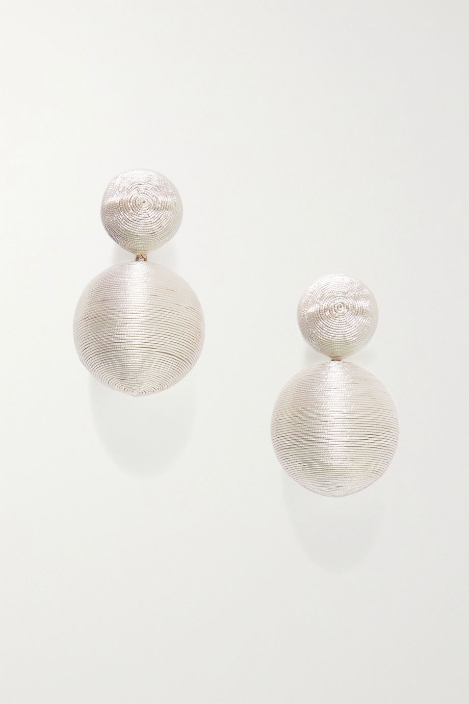 Rebecca de Ravenel Gold-tone and cord clip earrings