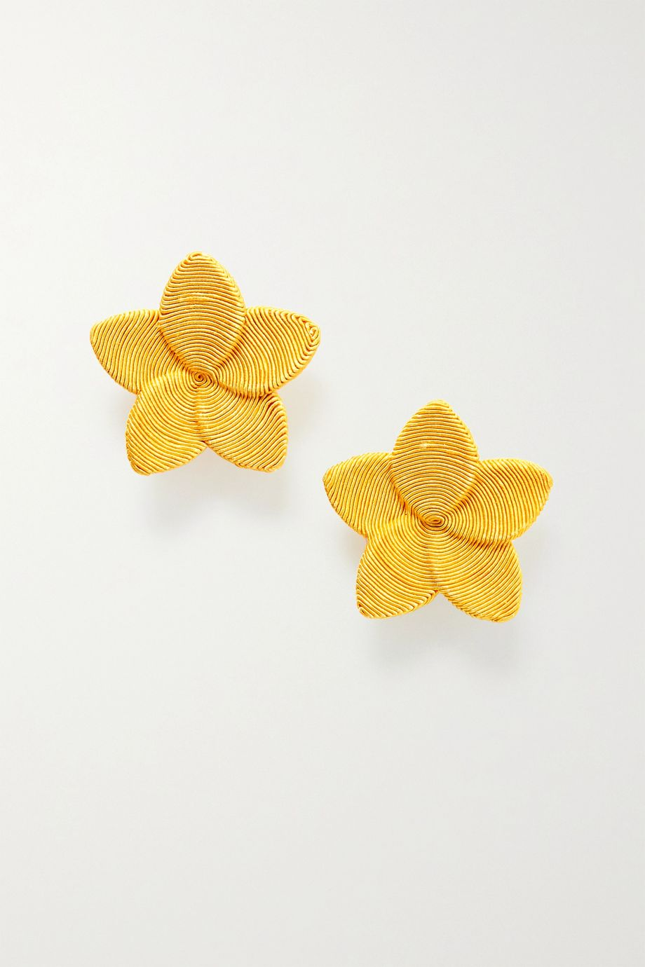 Rebecca de Ravenel Frangipani gold-plated cord clip earrings
