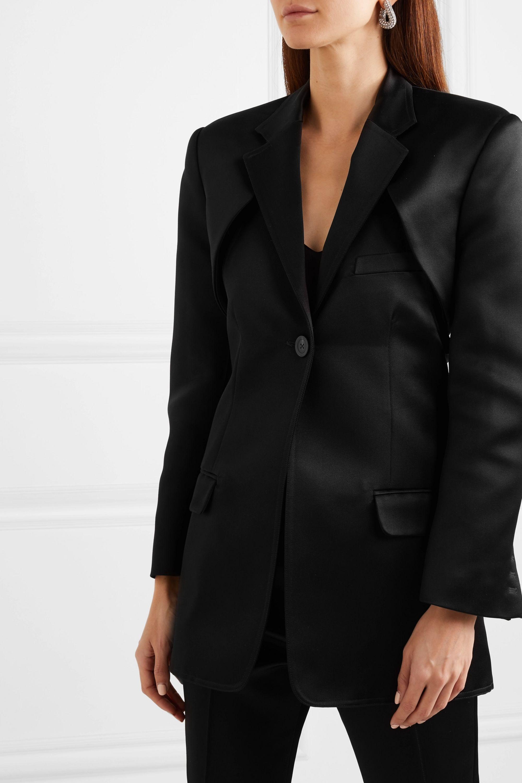 Peter Do Convertible cutout silk-satin blazer
