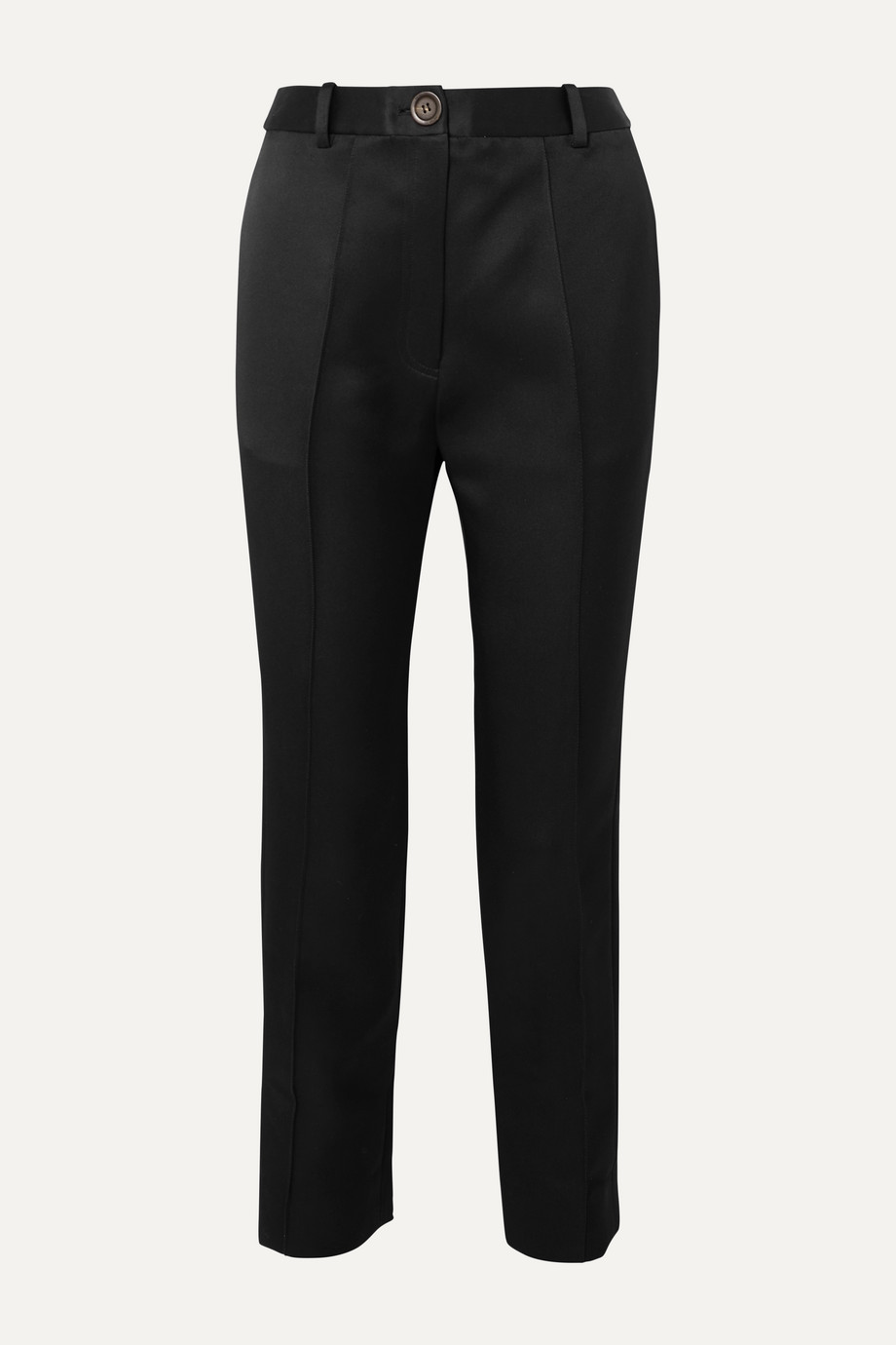 Peter Do Cropped silk-satin straight-leg pants