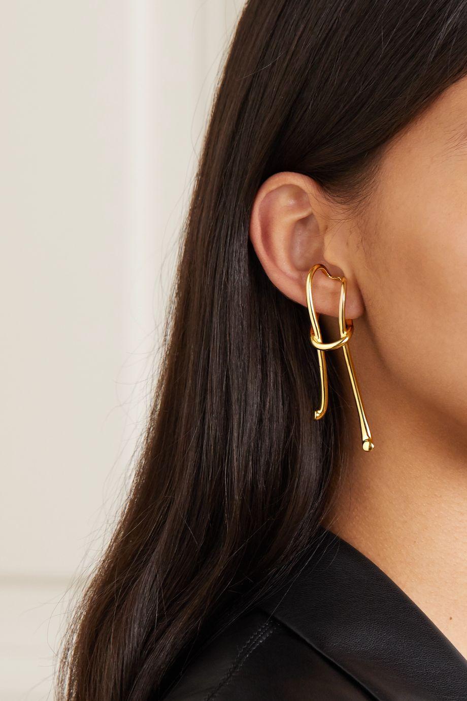 Anne Manns Pari gold-plated ear cuff