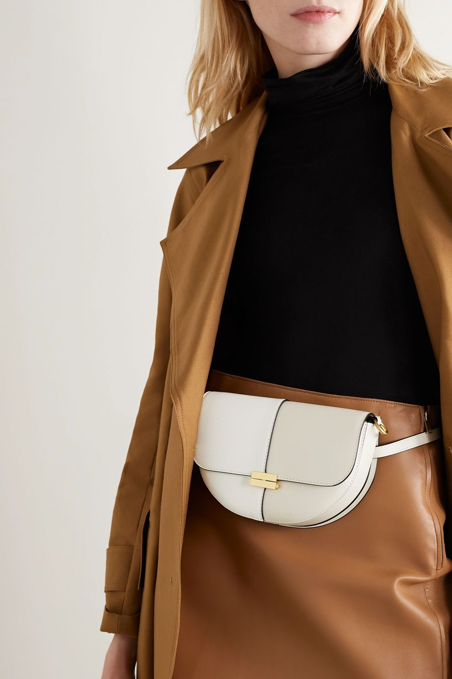 Wandler Anna two-tone leather shoulder bag