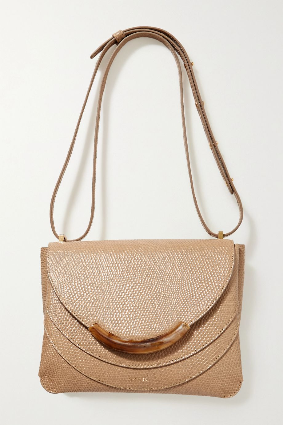 Wandler Luna Arch lizard-effect leather shoulder bag