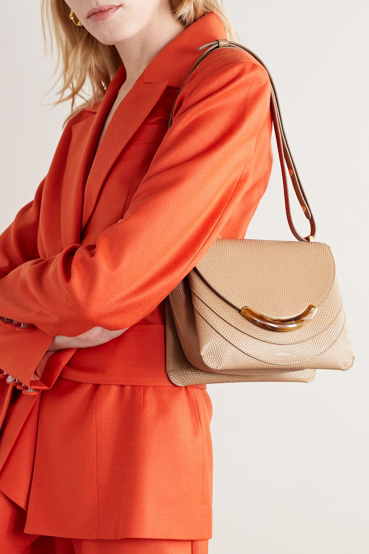 Wandler Luna Arch lizard-effect leather shoulder bag