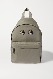 Anya Hindmarch Eyes snake-effect leather-trimmed shell backpack