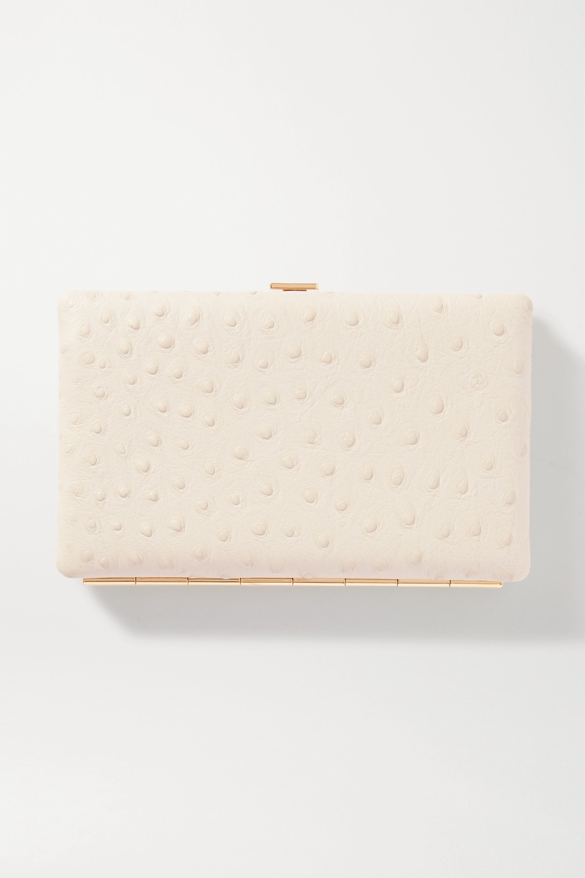 Anya Hindmarch Frame ostrich-effect leather wallet