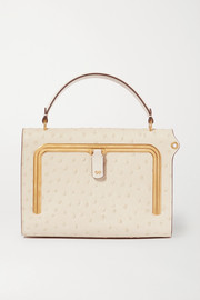 Anya Hindmarch Postbox small ostrich-effect leather tote