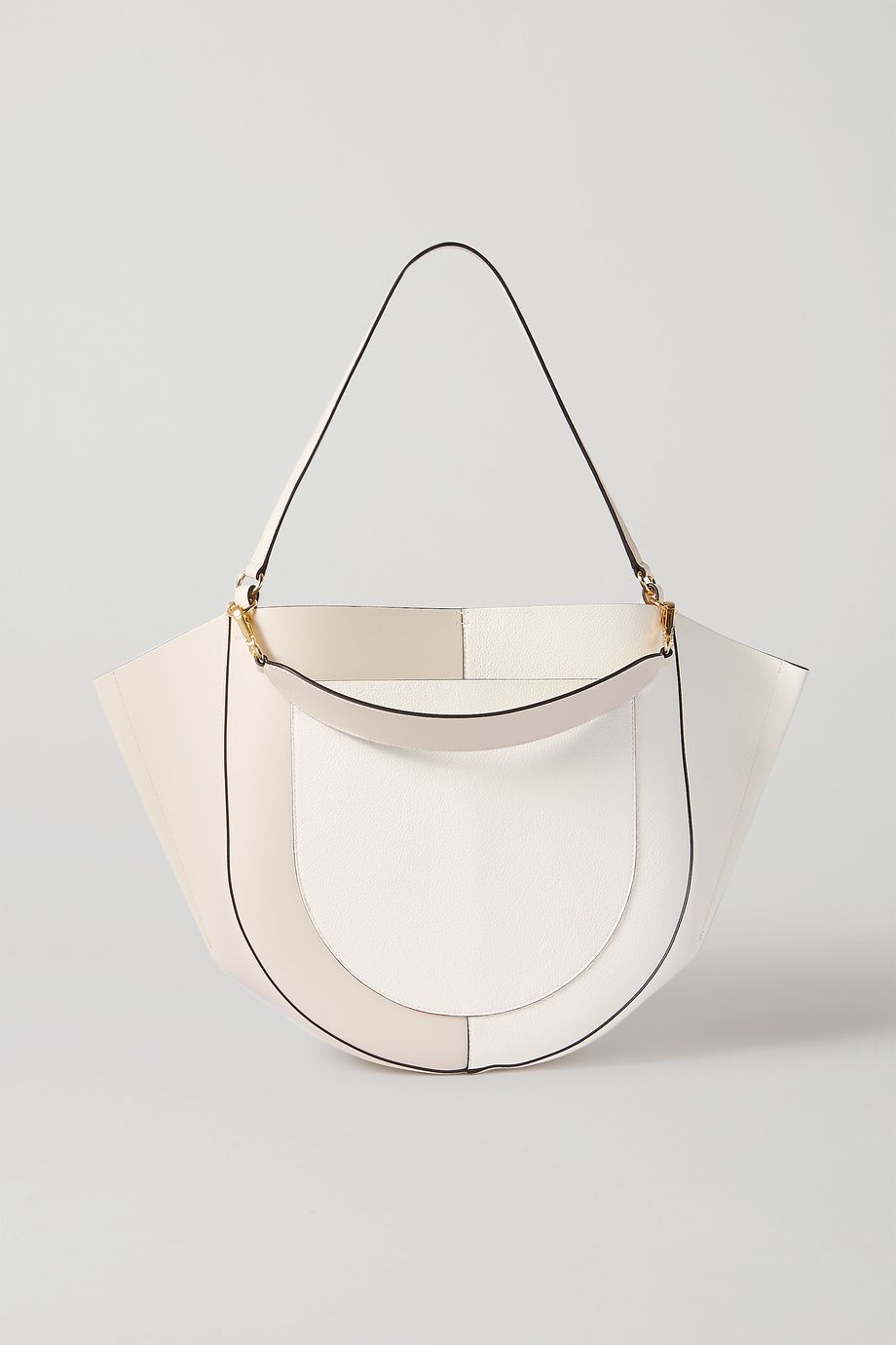 Wandler Mia large two-tone leather shoulder bag