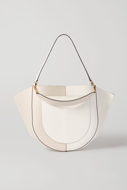 Mia large two-tone leather shoulder bag