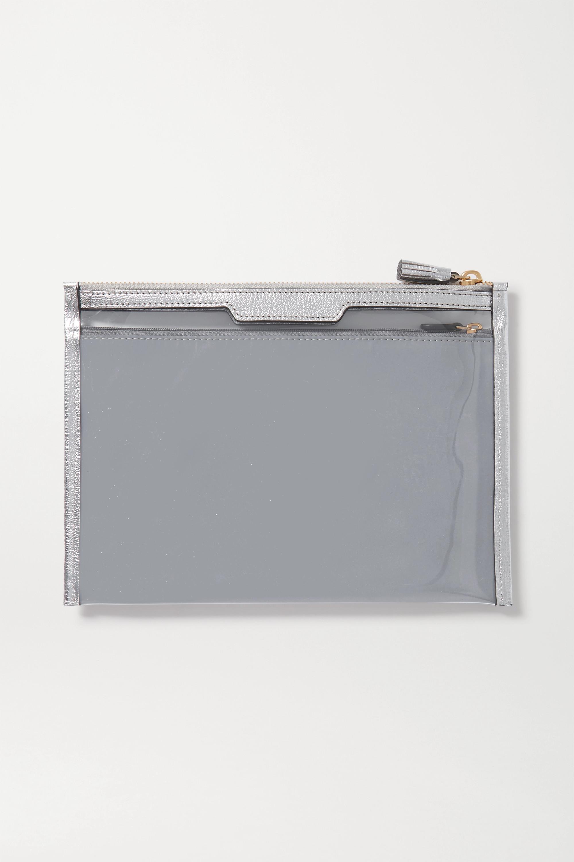 Anya Hindmarch Pochette en PVC et en cuir métallisé Safe Deposit
