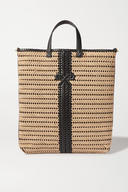 Anya Hindmarch Neeson Tall woven leather-trimmed rope tote