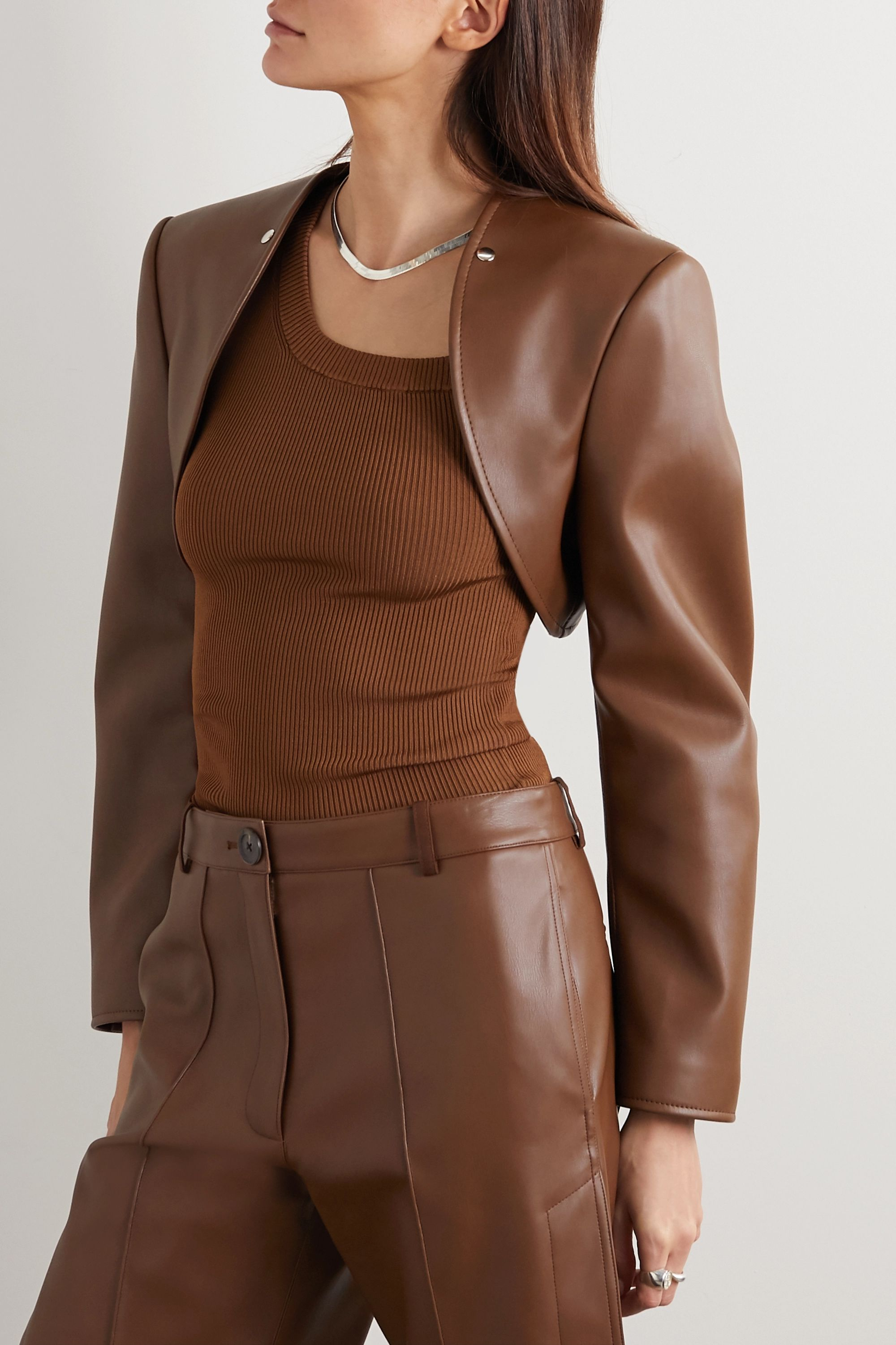 Peter Do Convertible faux leather blazer