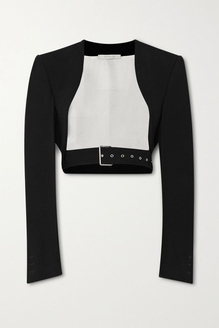 Peter Do Cropped belted cady jacket