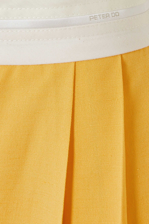 Peter Do 不对称褶裥巴里纱中长半身裙