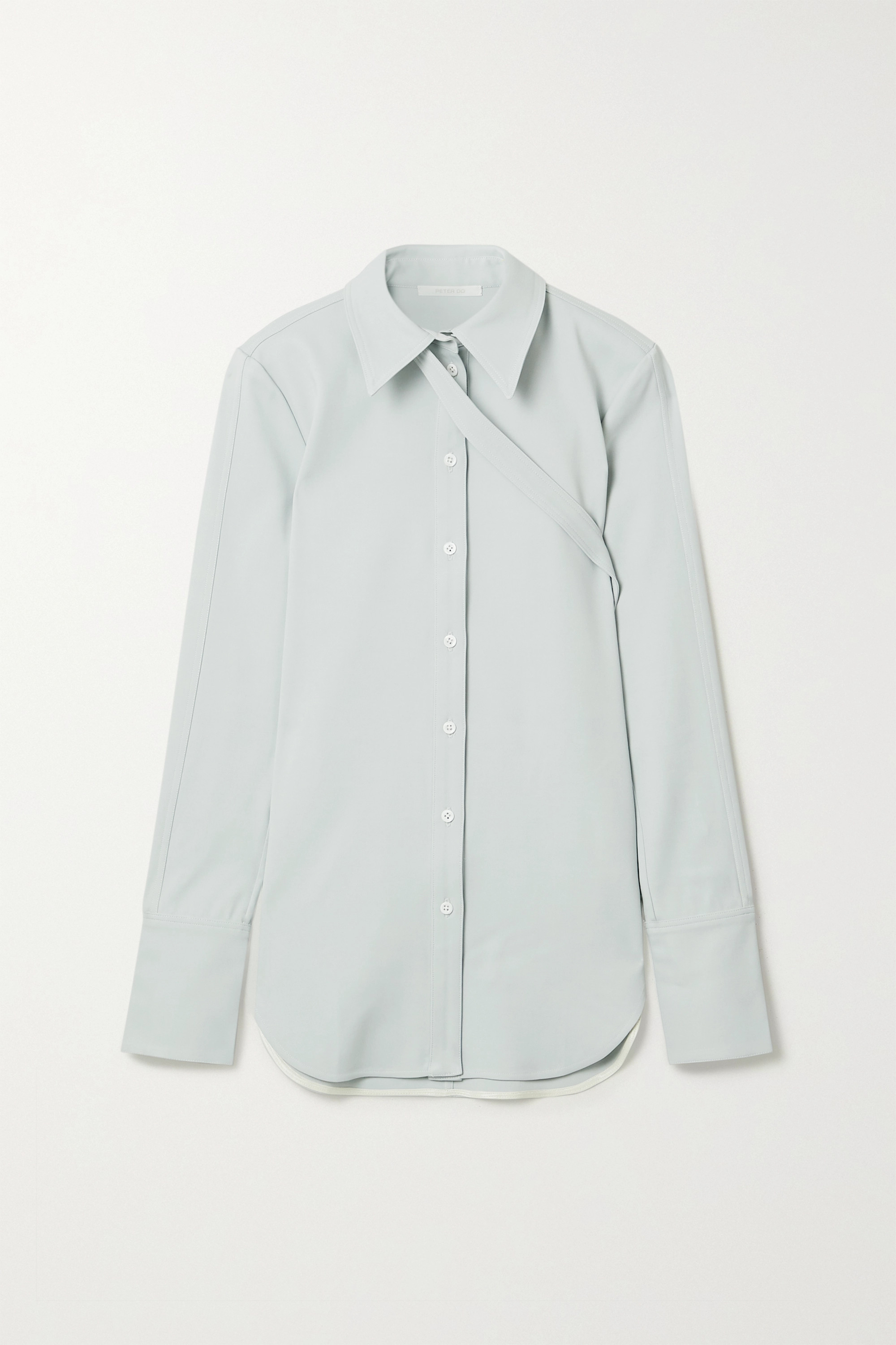 Peter Do Buckled stretch-crepe shirt