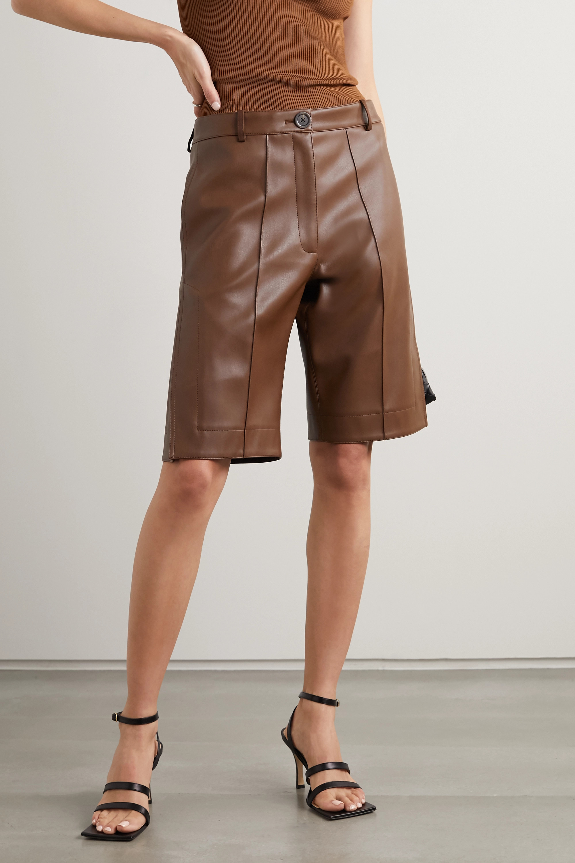 Peter Do Faux leather shorts