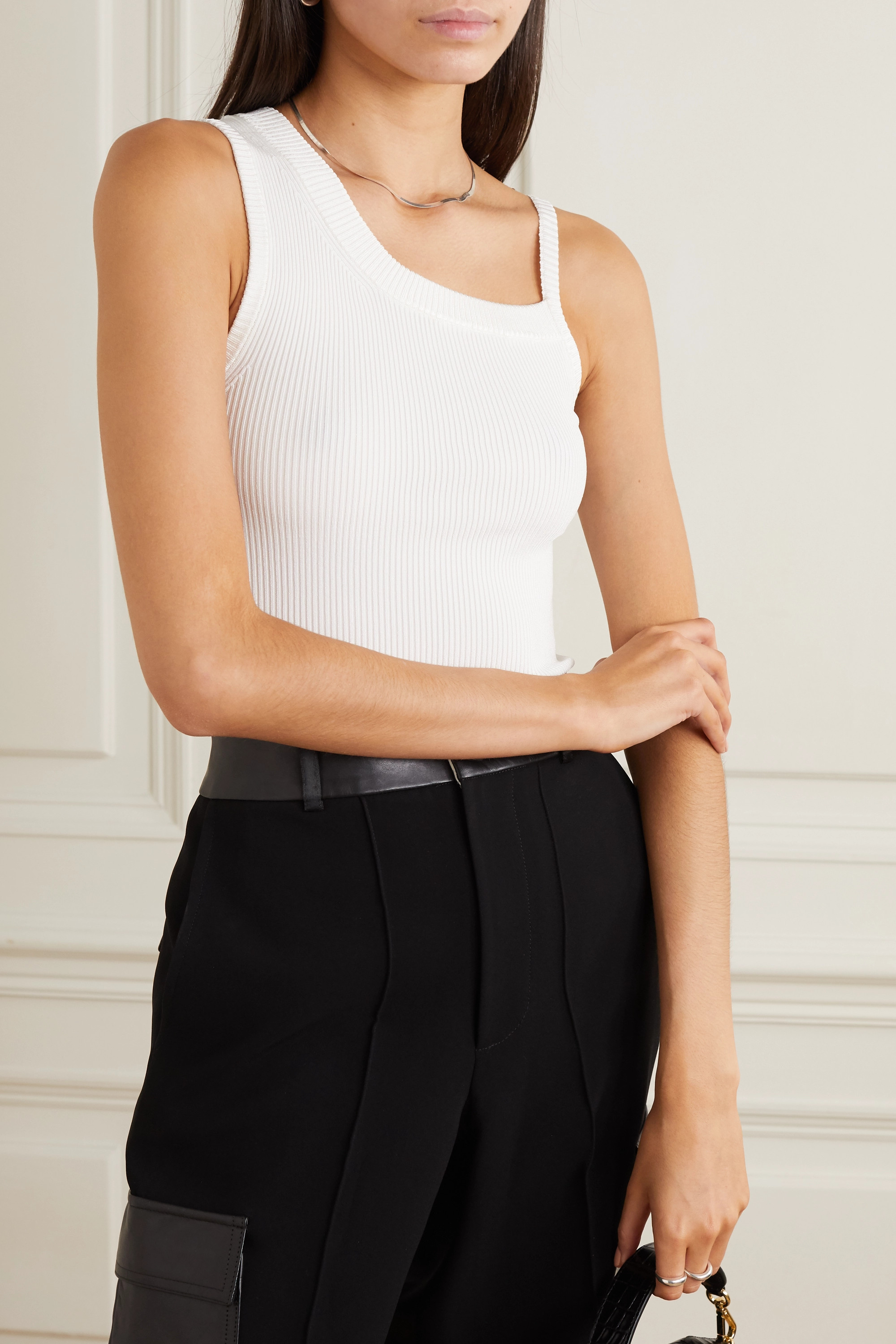 Peter Do Asymmetric ribbed jersey tank