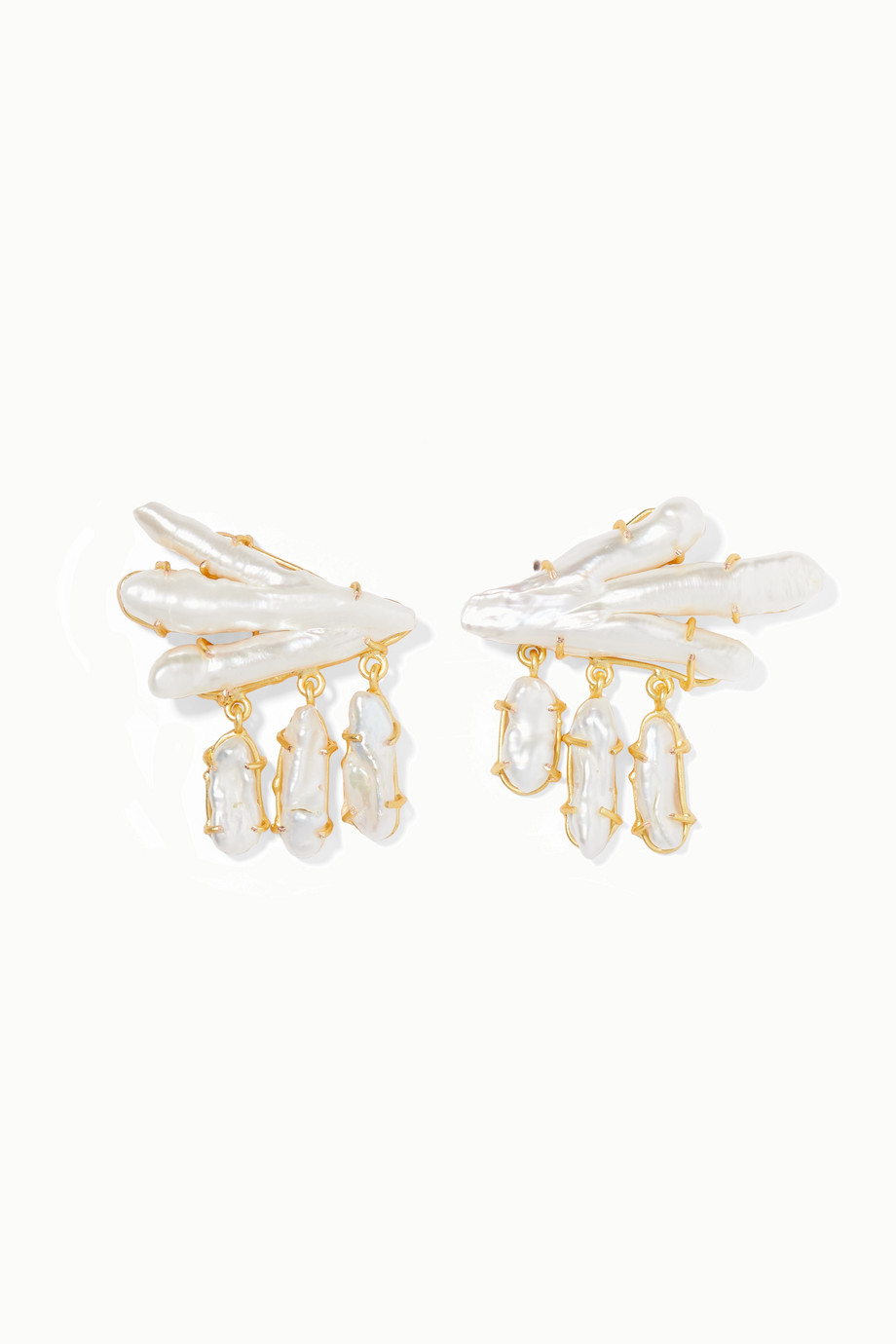 Peet Dullaert Vanura gold-plated pearl earrings