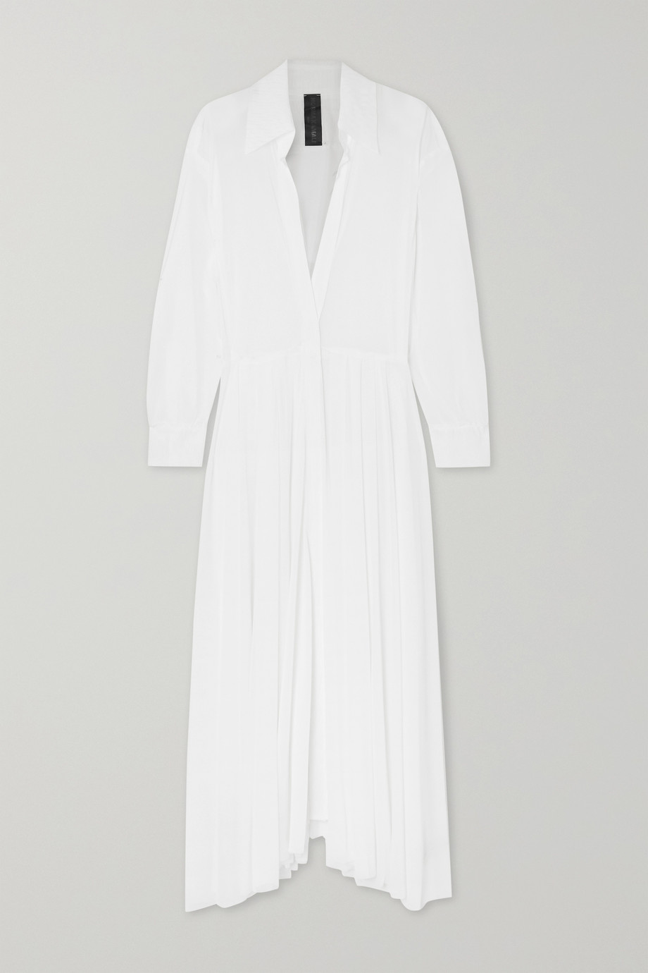 Norma Kamali | Pleated gauze maxi dress | NET-A-PORTER.COM