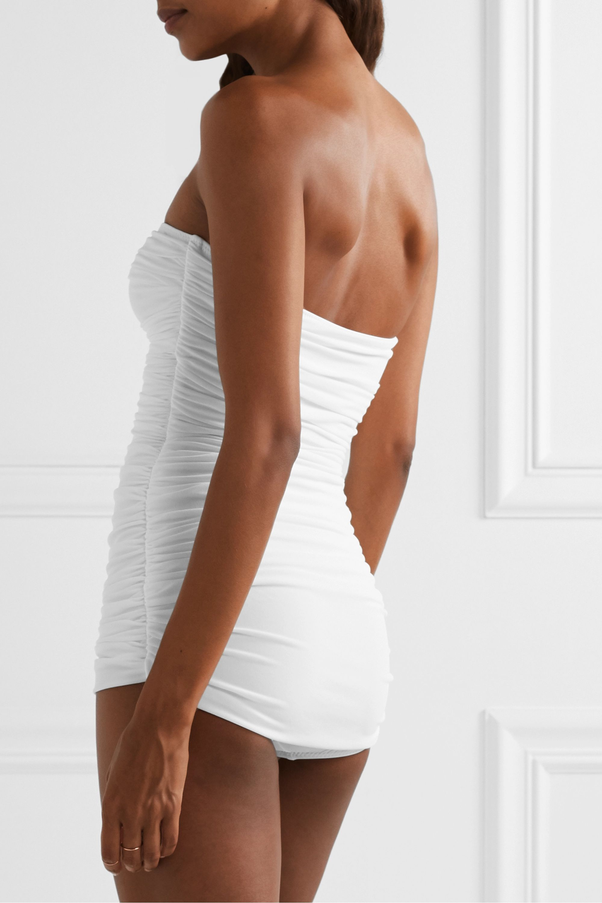 Norma Kamali Walter Mio ruched swimsuit