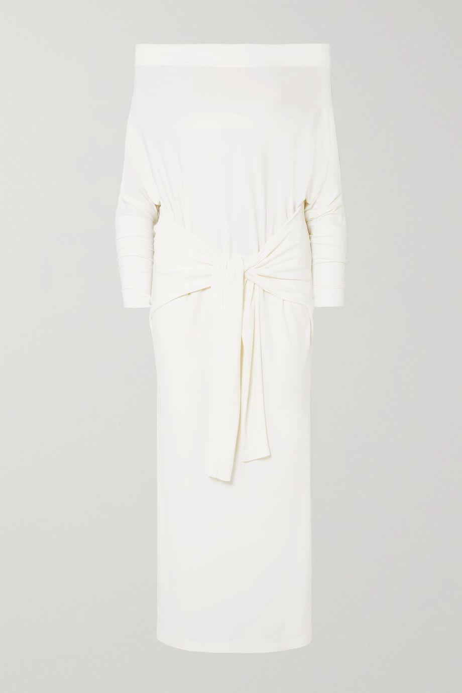 Norma Kamali Robe longue épaules nues en jersey stretch
