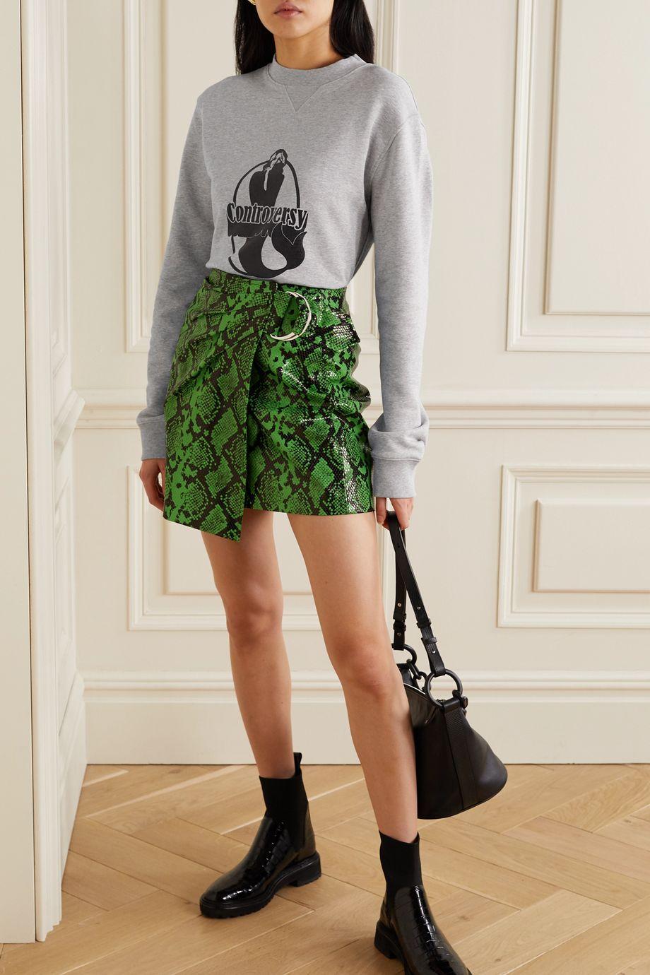 BLOUSE Controversy printed organic cotton-jersey sweatshirt