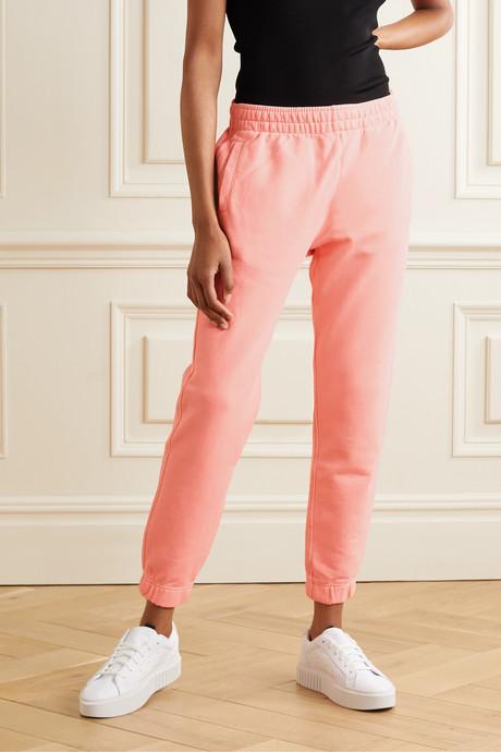 Alpha organic cotton-blend jersey track pants