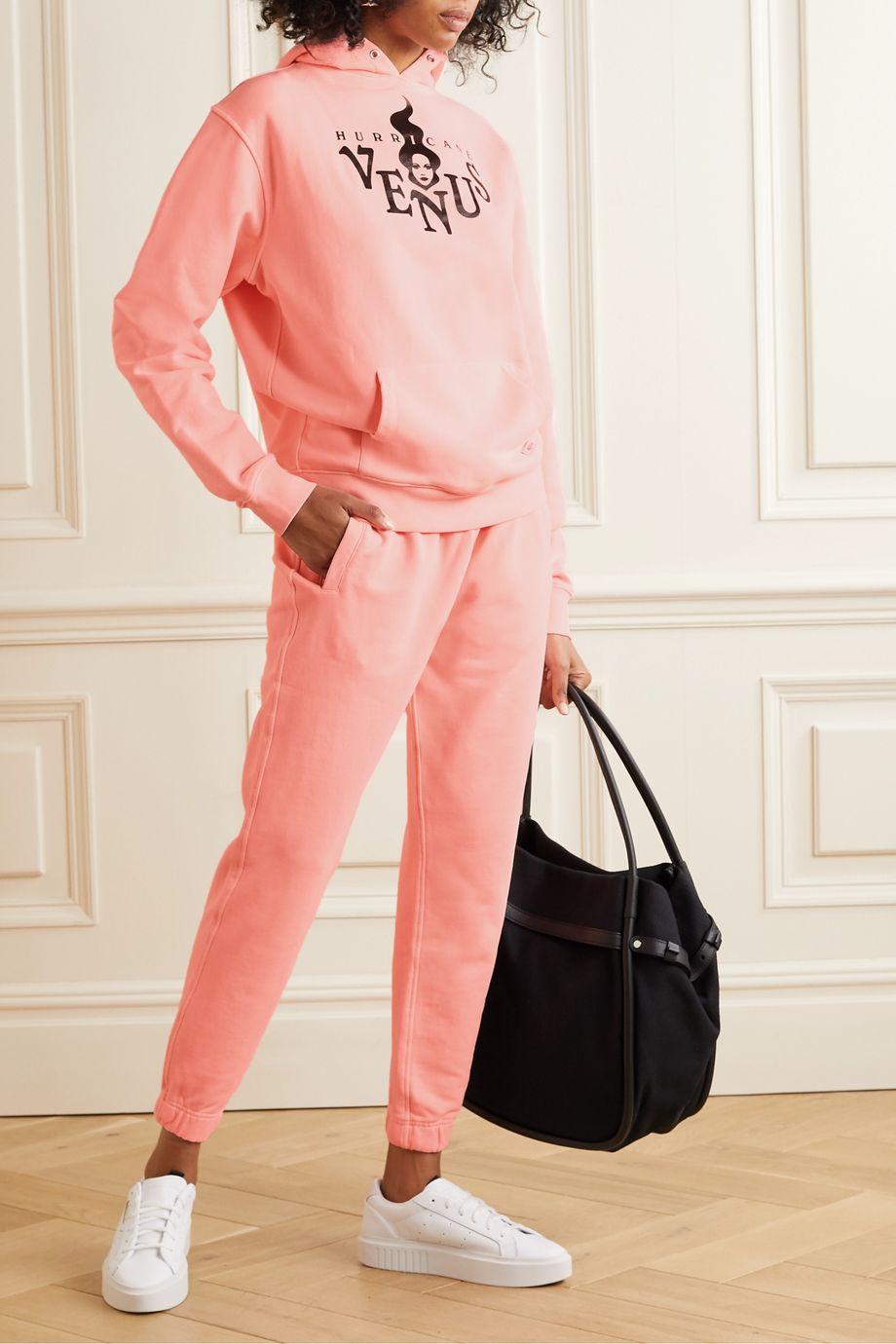 BLOUSE Alpha organic cotton-blend jersey track pants