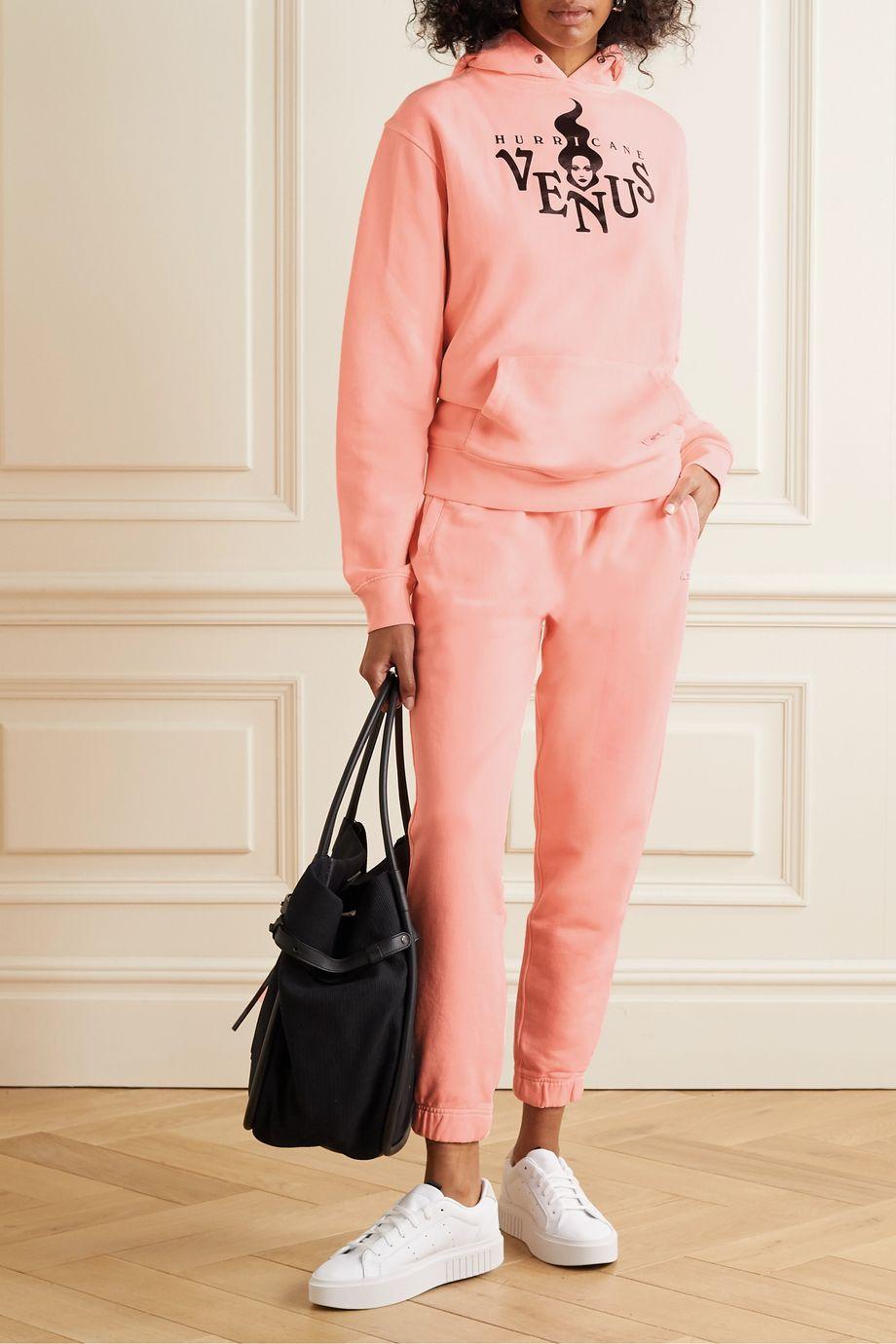 BLOUSE Hurricane Venus printed organic cotton-blend jersey hoodie