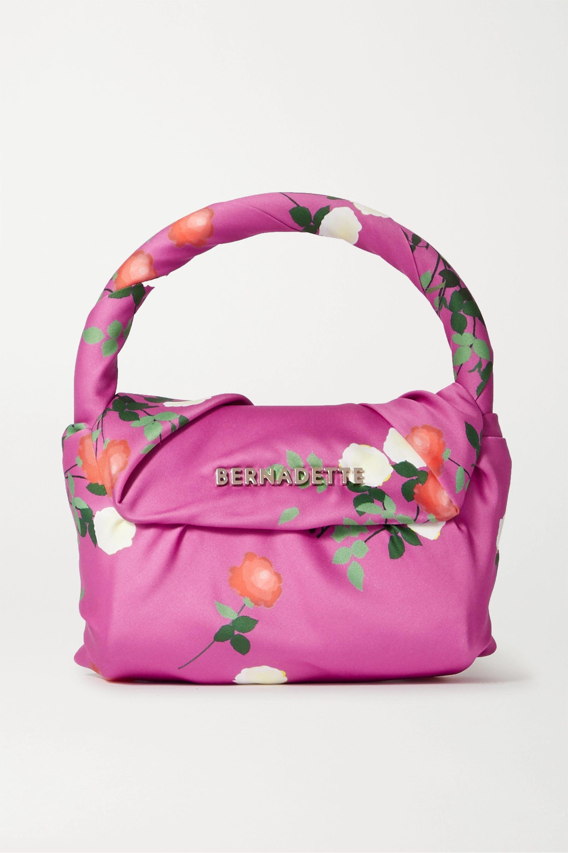 BERNADETTE Belinda mini knotted floral-print satin tote