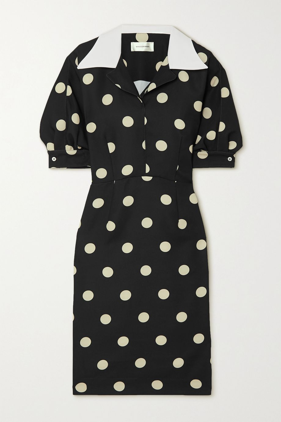 Wales Bonner Vilma polka-dot satin dress