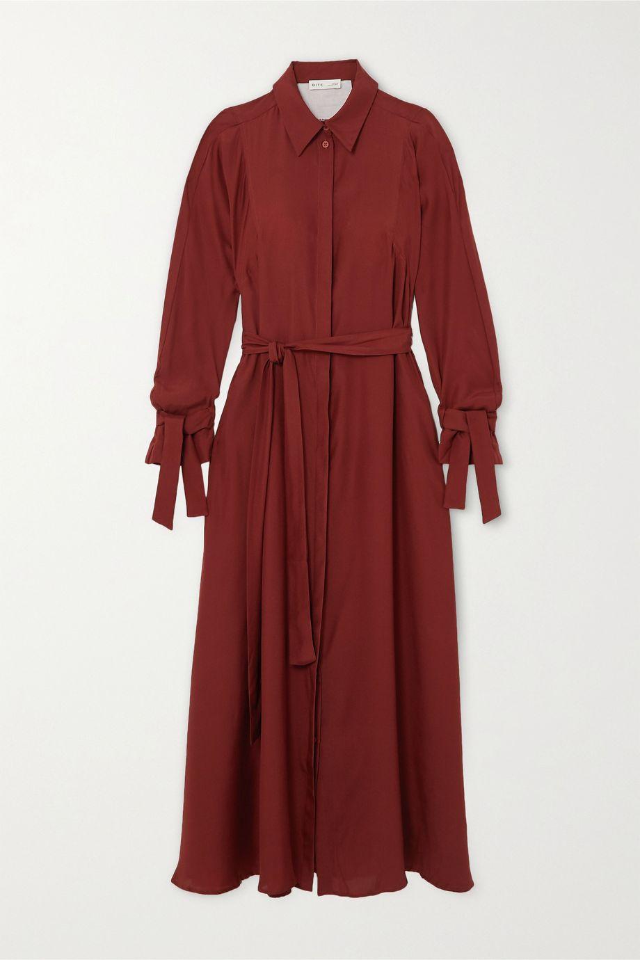 BITE Studios + NET SUSTAIN belted organic silk maxi dress