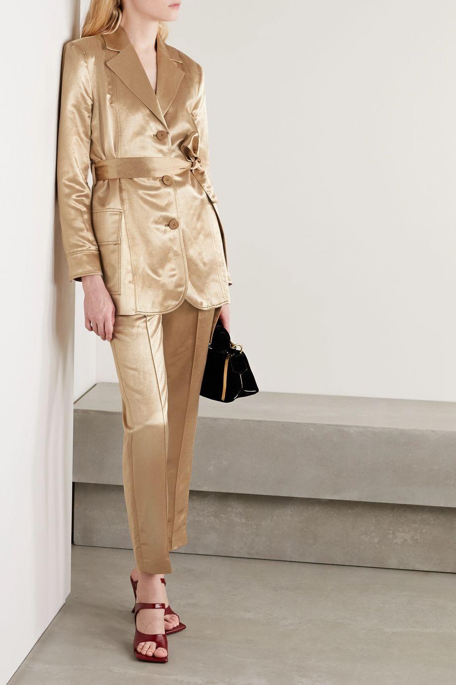 BITE Studios + NET SUSTAIN belted hemp and organic silk-blend dupioni blazer