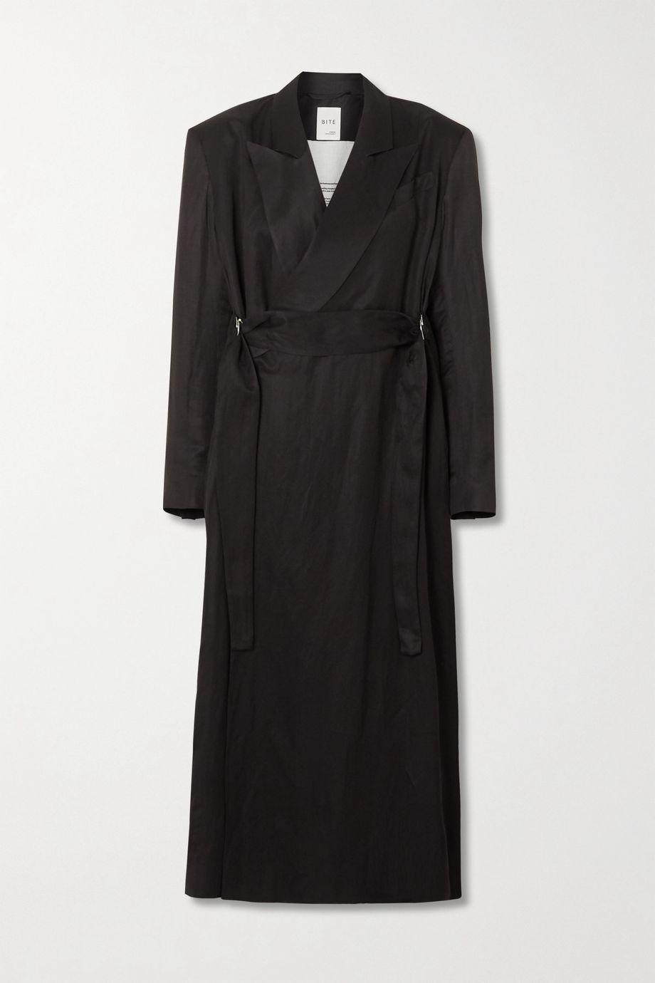 BITE Studios + NET SUSTAIN belted washed-satin coat