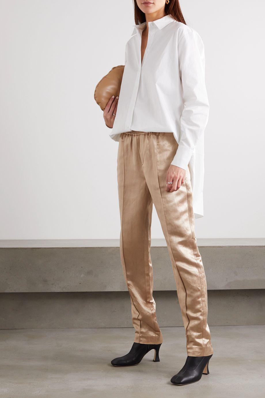 BITE Studios + NET SUSTAIN hemp and silk-blend straight-leg pants