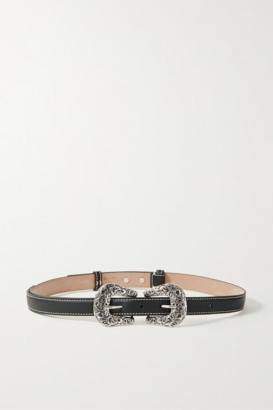 Acne Studios Audrey Leather Belt In Black