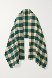 Acne Studios Cassier checked wool scarf