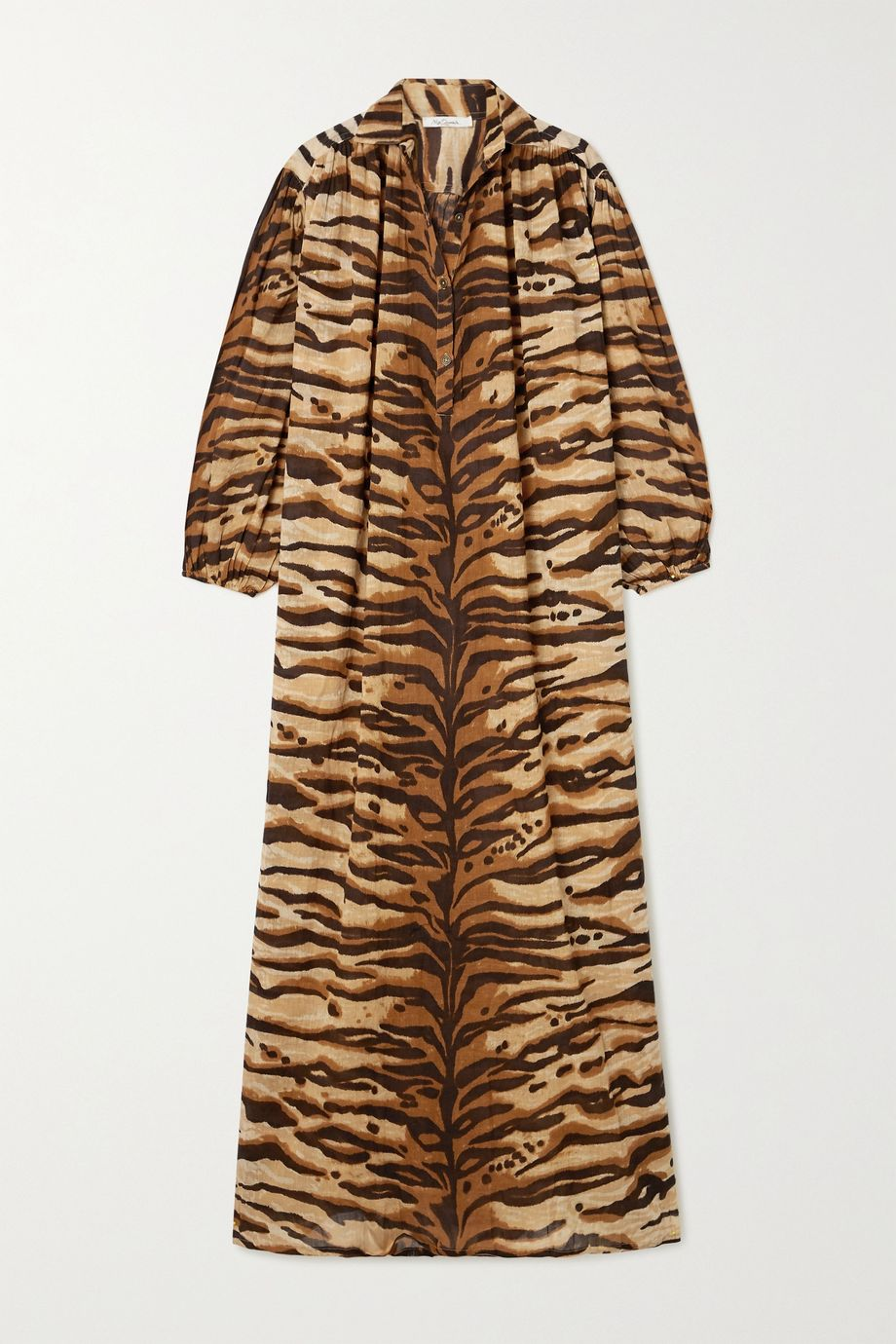 Mes Demoiselles Bangla tiger-print cotton-voile kaftan