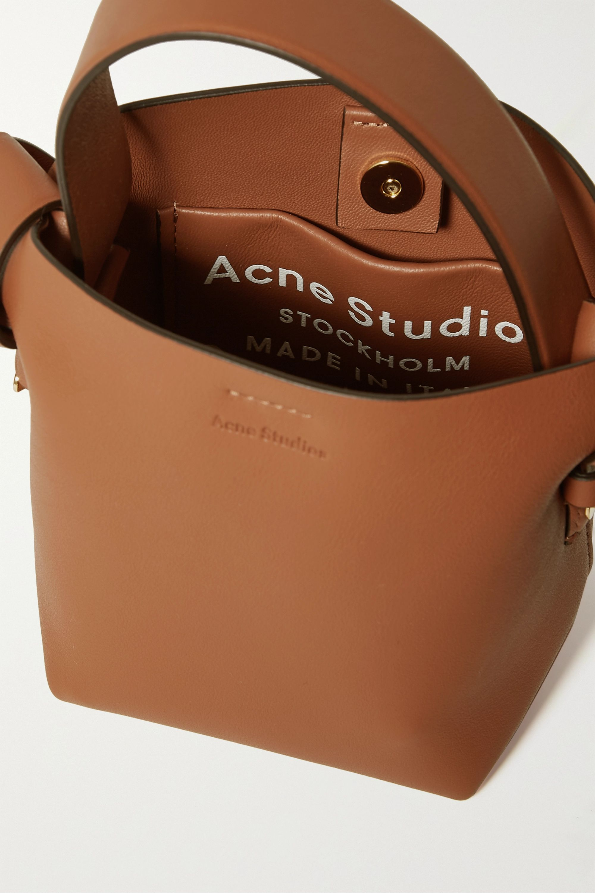 Acne Studios Micro knotted leather shoulder bag