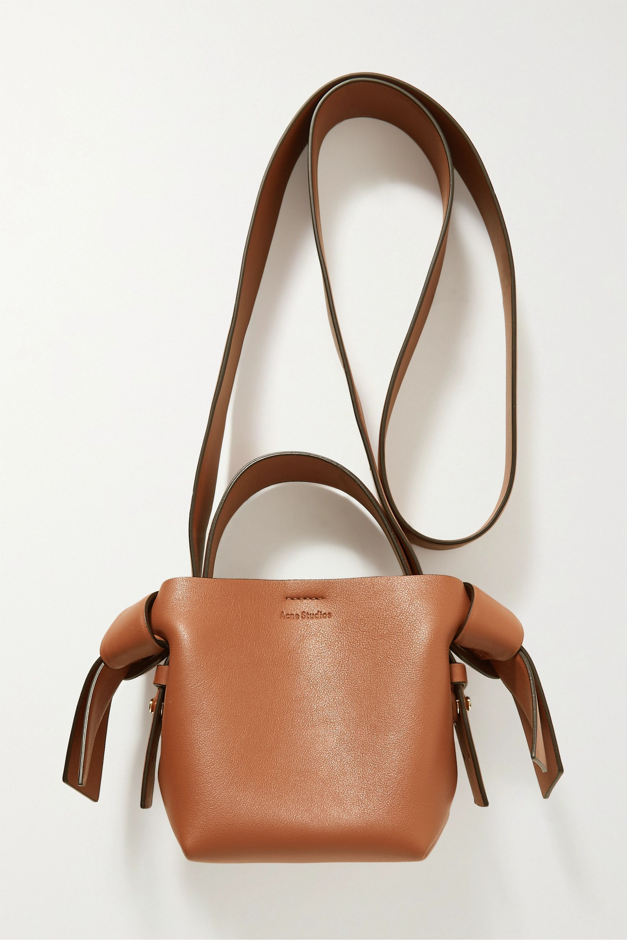Micro Knotted Leather Shoulder Bag