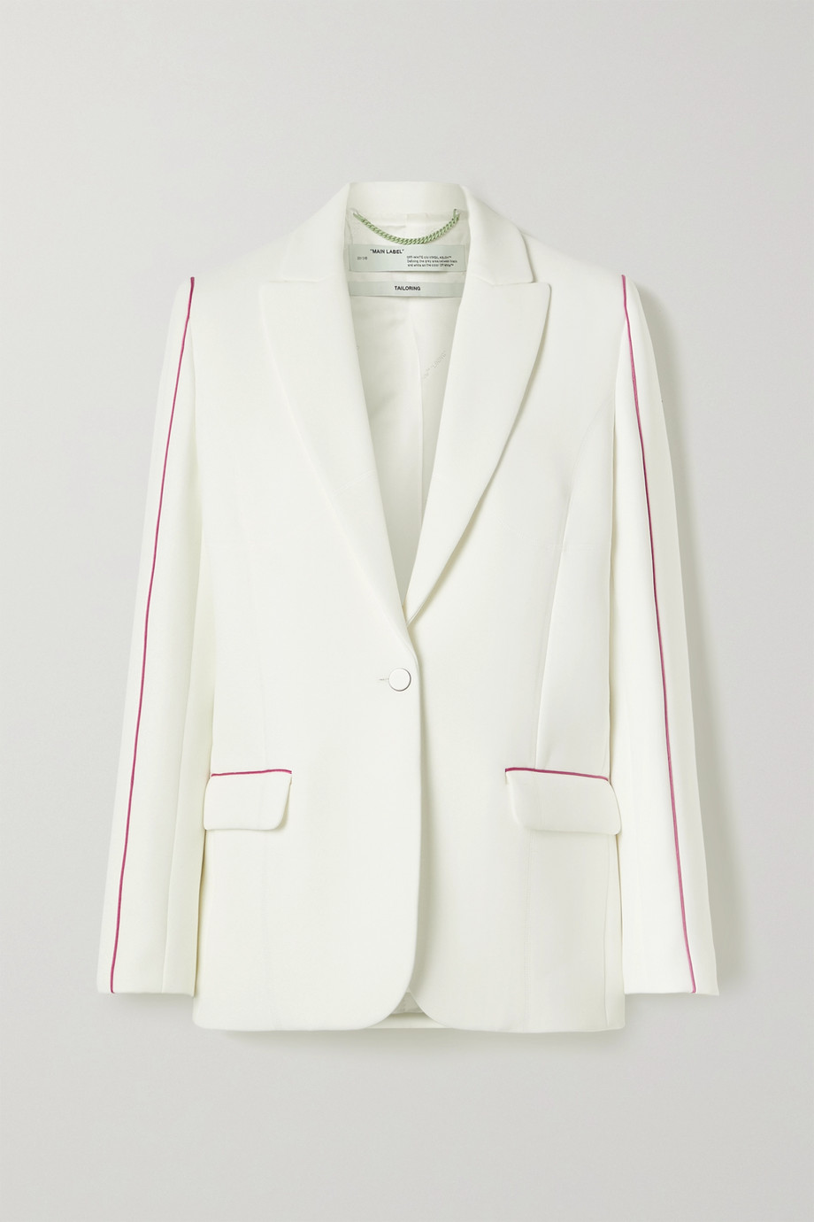 Off-White Piped printed cady blazer