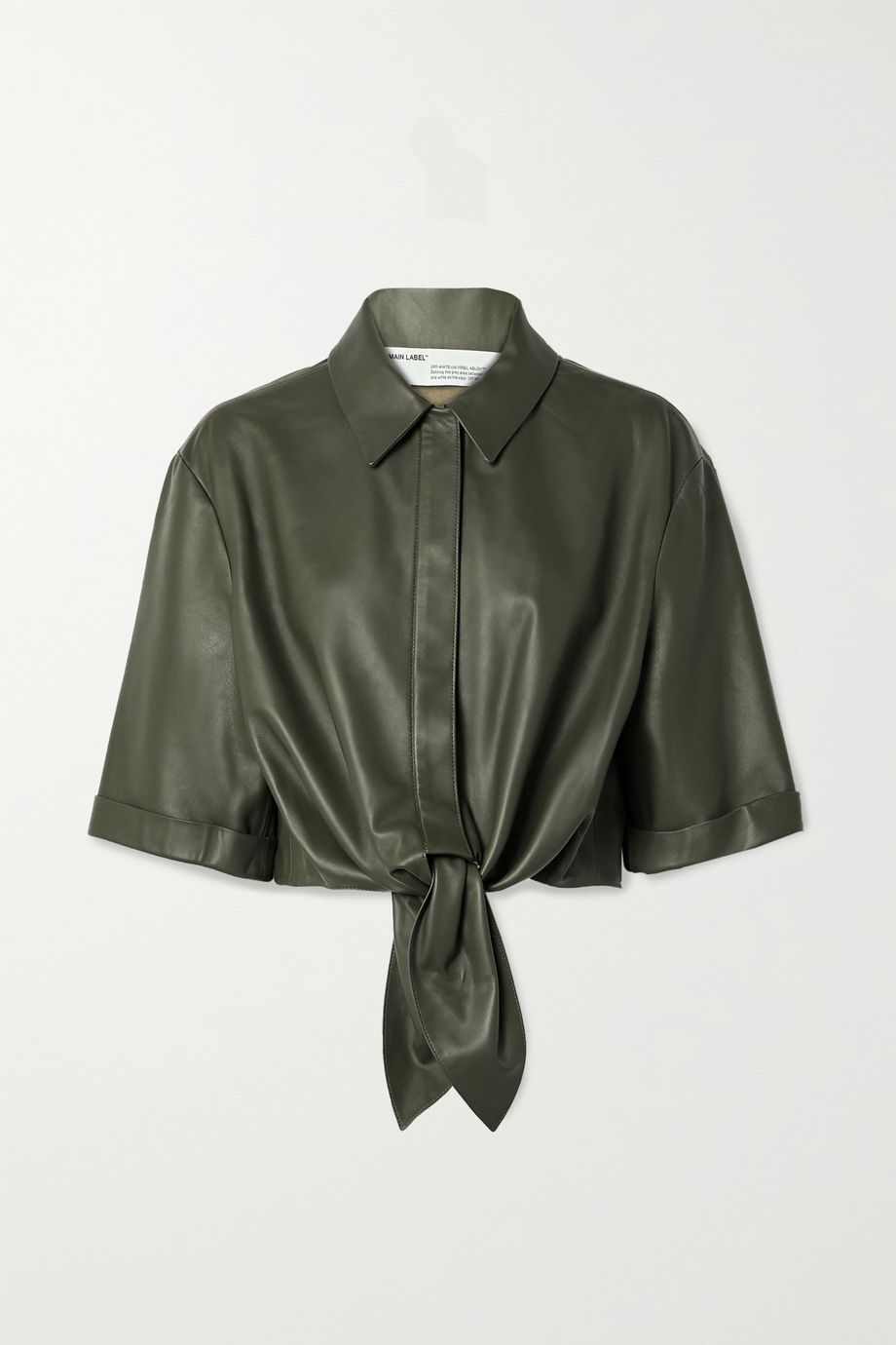 Off-White Tie-front leather shirt