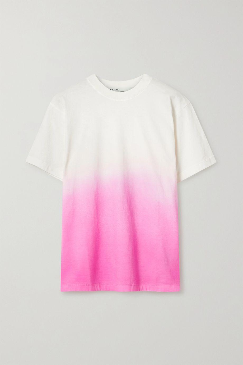 Off-White Embroidered dégradé cotton-blend jersey T-shirt