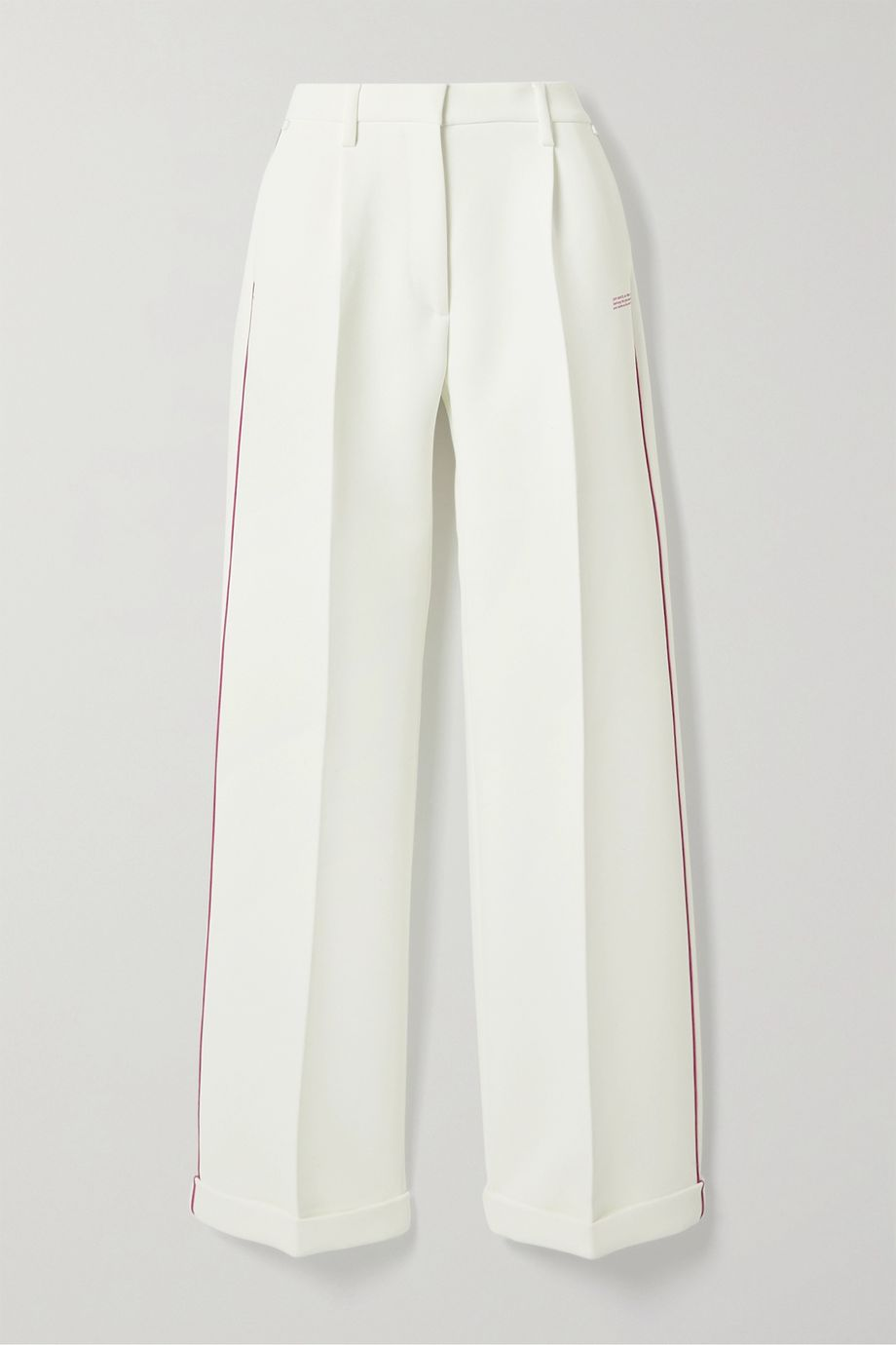Off-White Piped printed cady straight-leg pants